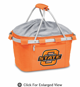 Picnic Time Metro Basket Digital Print - Orange Oklahoma State Cowboys