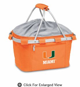 Picnic Time Metro Basket Digital Print - Orange University of Miami Hurricanes
