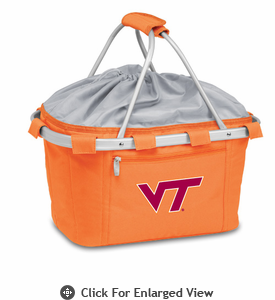 Picnic Time Metro Basket Digital Print - Orange Virginia Tech Hokies