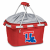 Picnic Time Metro Basket Digital Print - Red Louisiana Tech Bulldogs
