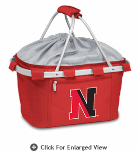 Picnic Time Metro Basket Digital Print - Red Northeastern University Huskies