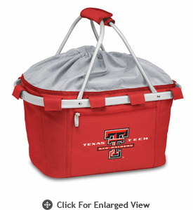 Picnic Time Metro Basket Digital Print - Red Texas Tech Red Raiders