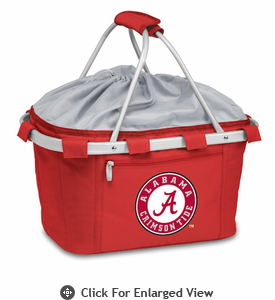 Picnic Time Metro Basket Digital Print - Red University of Alabama Crimson Tide