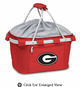 Picnic Time Metro Basket Digital Print - Red University of Georgia Bulldogs