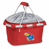 Picnic Time Metro Basket Digital Print - Red University of Kansas Jayhawks