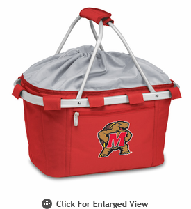 Picnic Time Metro Basket Digital Print - Red University of Maryland Terrapins