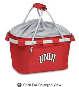 Picnic Time Metro Basket Digital Print - Red University of Nevada LV Rebels