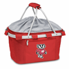 Picnic Time Metro Basket Digital Print - Red University of Wisconsin Badgers