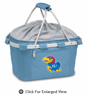 Picnic Time Metro Basket Digital Print - Sky Blue University of Kansas Jayhawks