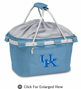 Picnic Time Metro Basket Digital Print - Sky Blue University of Kentucky Wildcats
