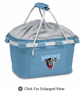 Picnic Time Metro Basket Digital Print - Sky Blue University of Maine Black Bears