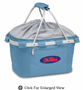 Picnic Time Metro Basket Digital Print - Sky Blue University of Mississippi Rebels