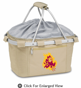 Picnic Time Metro Basket Digital Print - Tan Arizona State Sun Devils