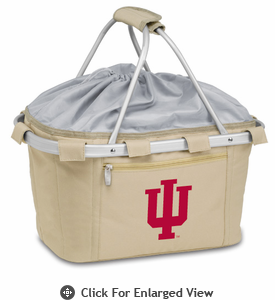 Picnic Time Metro Basket Digital Print - Tan Indiana University Hoosiers