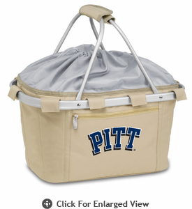 Picnic Time Metro Basket Digital Print - Tan University of Pittsburgh Panthers