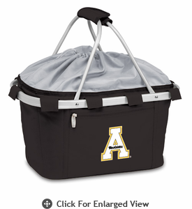 Picnic Time Metro Basket Embroidered- Black Appalachian State Mountaineers