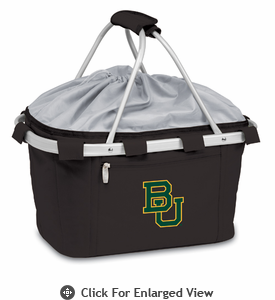 Picnic Time Metro Basket Embroidered- Black Baylor University Bears