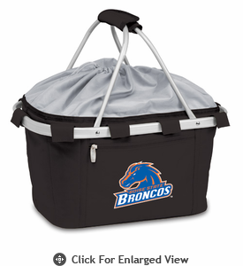 Picnic Time Metro Basket Embroidered- Black Boise State Broncos