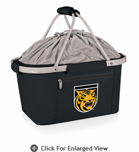 Picnic Time Metro Basket Embroidered- Black Colorado College Tigers