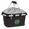 Picnic Time Metro Basket Embroidered- Black Colorado State Rams
