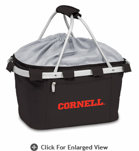 Picnic Time Metro Basket Embroidered- Black Cornell University Bears