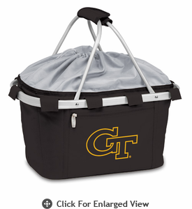 Picnic Time Metro Basket Embroidered- Black Georgia Tech Yellow Jackets