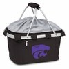 Picnic Time Metro Basket Embroidered- Black Kansas State Wildcats