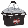 Picnic Time Metro Basket Embroidered- Black Mississippi State Bulldogs