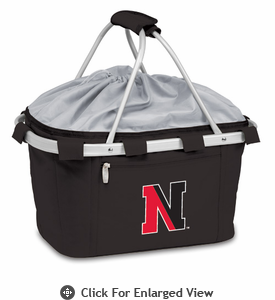 Picnic Time Metro Basket Embroidered- Black Northeastern University Huskies