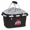 Picnic Time Metro Basket Embroidered- Black Ohio State Buckeyes