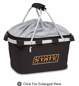 Picnic Time Metro Basket Embroidered- Black Oklahoma State Cowboys