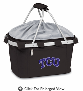Picnic Time Metro Basket Embroidered- Black TCU Horned Frogs