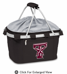 Picnic Time Metro Basket Embroidered- Black Texas A & M Aggies