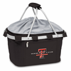 Picnic Time Metro Basket Embroidered- Black Texas Tech Red Raiders