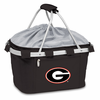 Picnic Time Metro Basket Embroidered- Black University of Georgia Bulldogs