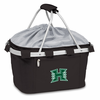 Picnic Time Metro Basket Embroidered- Black University of Hawaii Warriors