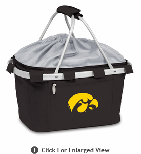 Picnic Time Metro Basket Embroidered- Black University of Iowa Hawkeyes