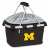 Picnic Time Metro Basket Embroidered- Black University of Michigan Wolverines