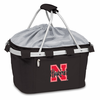 Picnic Time Metro Basket Embroidered- Black University of Nebraska Cornhuskers