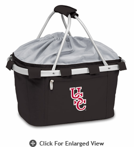 Picnic Time Metro Basket Embroidered- Black University of South Carolina Gamecocks