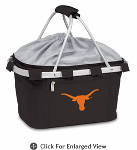 Picnic Time Metro Basket Embroidered- Black University of Texas Longhorns