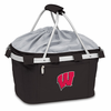 Picnic Time Metro Basket Embroidered- Black University of Wisconsin Badgers