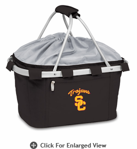 Picnic Time Metro Basket Embroidered- Black USC Trojans