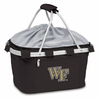 Picnic Time Metro Basket Embroidered- Black Wake Forest Demon Deacons