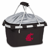 Picnic Time Metro Basket Embroidered- Black Washington State Cougars