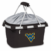 Picnic Time Metro Basket Embroidered- Black West Virginia University Mountaineers