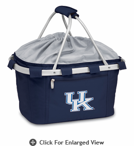 Picnic Time Metro Basket Embroidered- Navy University of Kentucky Wildcats