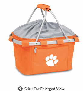 Picnic Time Metro Basket Embroidered- Orange Clemson University Tigers