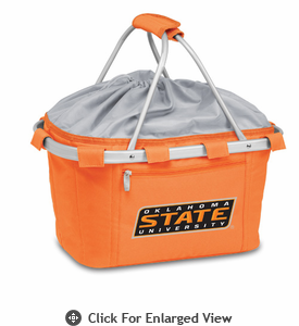 Picnic Time Metro Basket Embroidered- Orange Oklahoma State Cowboys