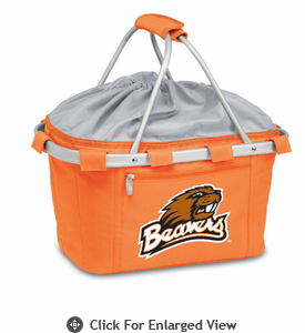 Picnic Time Metro Basket Embroidered- Orange Oregon State Beavers